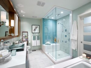 Renovate bathrooms